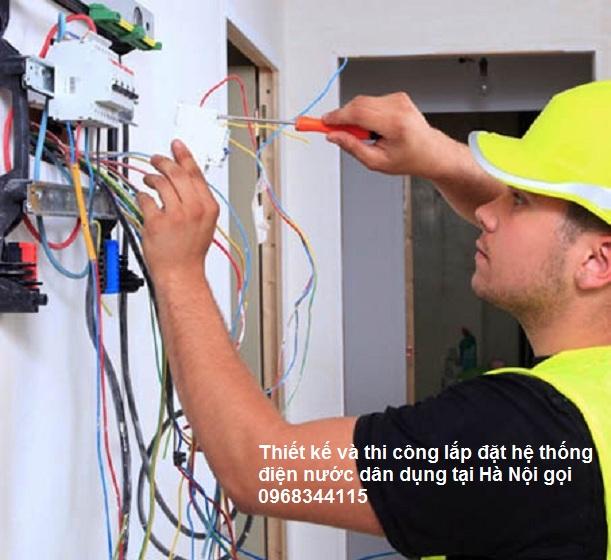 Thợ lắp đặt điện nước tại Hà Nội Hotline 0968 344 115